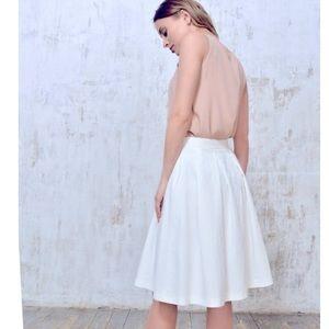 H&M Linen Full Skirt